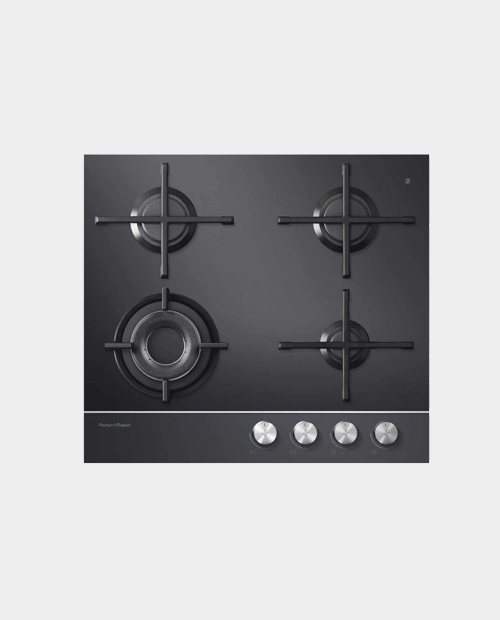 Fisher & Paykel 60cm Gas on Glass Hob – Natural Gas CG604DNGGB1