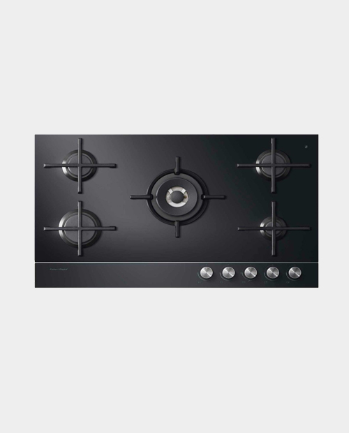 Fisher & Paykel 90cm Gas on Glass Hob – Natural Gas CG905DNGGB1
